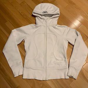 Lululemon White Scuba Hoodie - Size 6